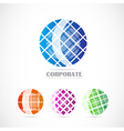 Corporate globe logo set vector image vector image