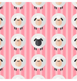 Cute Pink Sheep Wallpaper vector image vector image