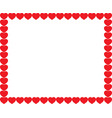 cute red cartoon hearts love border with space vector image vector image