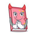 devil diary mascot cartoon style vector image vector image