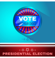 Digital usa election with make your choise vector image vector image