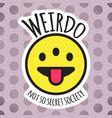 Emoji weird three eyed funny face weirdo smile