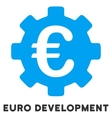 Euro Development Flat Icon with Caption vector image vector image