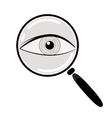 Eye in Magnification Flat Icon