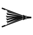 fire bellows icon simple vector image