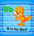 flashcard letter b is for bird vector image vector image