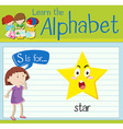 Flashcard letter S is for star vector image vector image