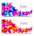 Floral color design vector image vector image