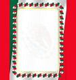 frame and border of ribbon with mexico flag vector image