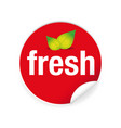 fresh label tag sign vector image