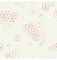 Geometric pattern of hexagons triangles vector image