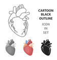 heart icon in cartoon style isolated on white vector image vector image