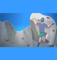 indoor climbing concept banner cartoon style vector image vector image