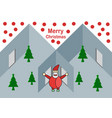interior flat home for merry christmas with santa vector image
