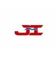 Ji Logo Graphic Branding Letter Element vector image vector image