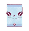 kawaii cute happy smartphone technology vector image vector image