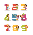 Kids Party Retro Icons Set vector image vector image