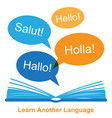 learn another language concept vector image vector image