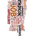 medicine job search tips dlvy nicheblowercom text vector image vector image