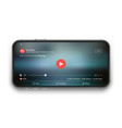 mobile video player ui concept vector image