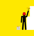 painting the wall yellow vector image vector image