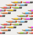 pencils background seamless vector image vector image