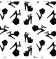 pole dance sexy shoes high heels pattern vector image vector image