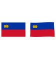 principality of liechtenstein flag simple and vector image