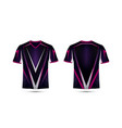 purple pink and black layout e-sport t-shirt vector image