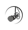 radio mic vector image
