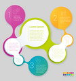 rainbow color infographics vector image vector image