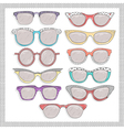 retro sunglasses set vector image vector image
