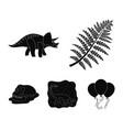 sea dinosaurtriceratops prehistoric plant human vector image vector image