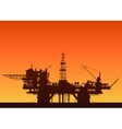 Sea oil rig at sunset Oil platform in the sea vector image vector image