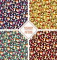 Seamless mushroom patterns set vector image vector image
