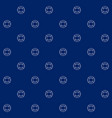 seamless sea pattern with lifebuoy vector image vector image