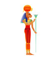 sekhmet egyptian goddess lioness deity ancient vector image