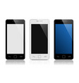 set mobile phones isolated on white vector image