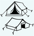 Set of canvas tents vector image vector image