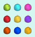 Set of christmas colored decoration balls vector image
