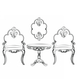 Set of classic imperial furniture vector image vector image