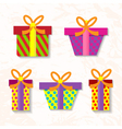 Set of gifts vector image vector image