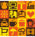 Set of pixel objects vector image vector image