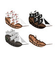 set of sailers on a white background vector image vector image