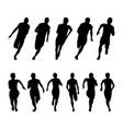 set runners sprinters vector image
