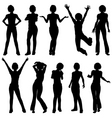 silhouettes girl vector image vector image