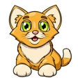 Smiling little kitten 2 vector image vector image
