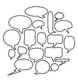 speech bubbles messages icons square frame and vector image