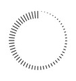 stripes around circle logo countdown vector image vector image