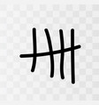 tally marks on the wall vector image vector image